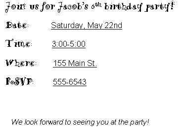 snake birthday party invitations generic